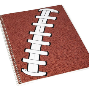 3 Spiral Notebooks Plus Pencil NFL Football